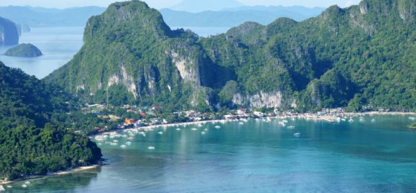 Beautiful Aerial View of El Nido in the Province of Palawan
